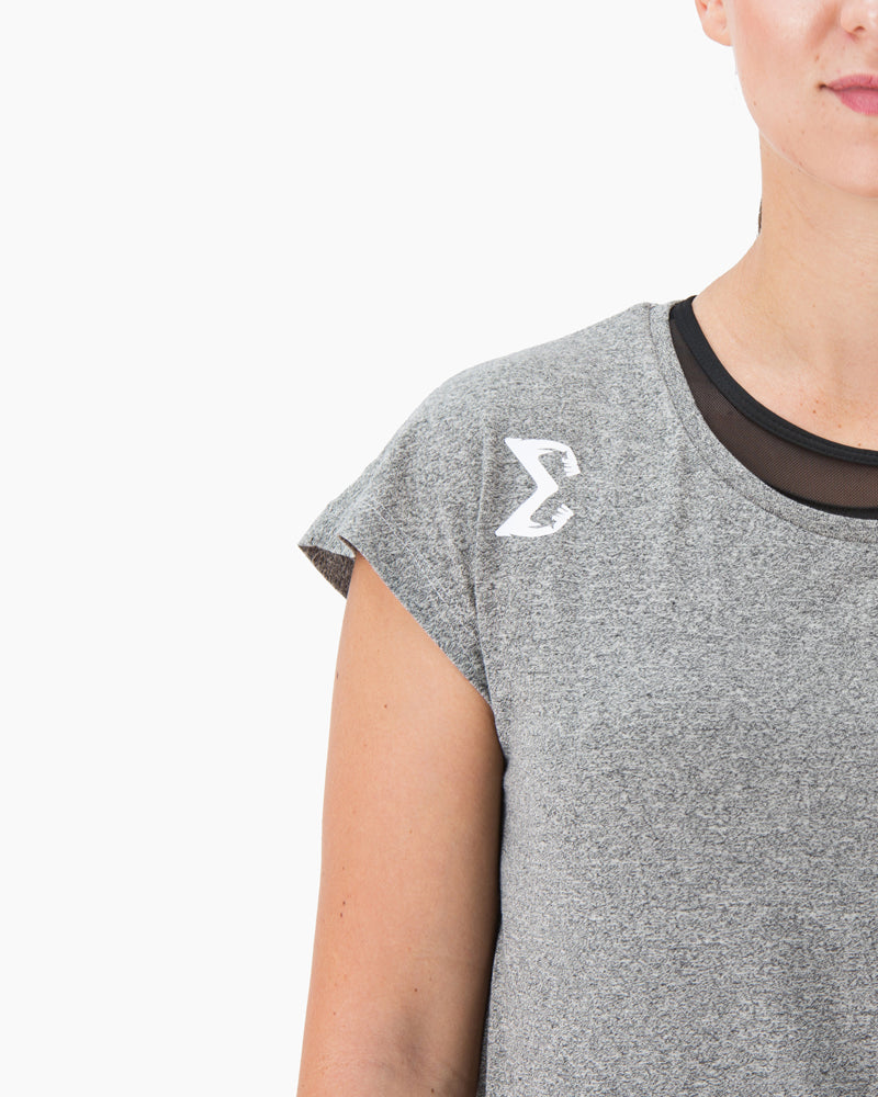 Side Knot T-shirt (Gray) - Sigma Fit US