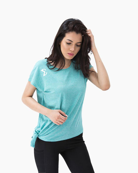Side Knot T-shirt (Turquoise) - Sigma Fit US