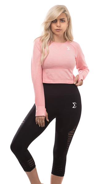 Long-Sleeve Crop Tops - Sigma Fit US