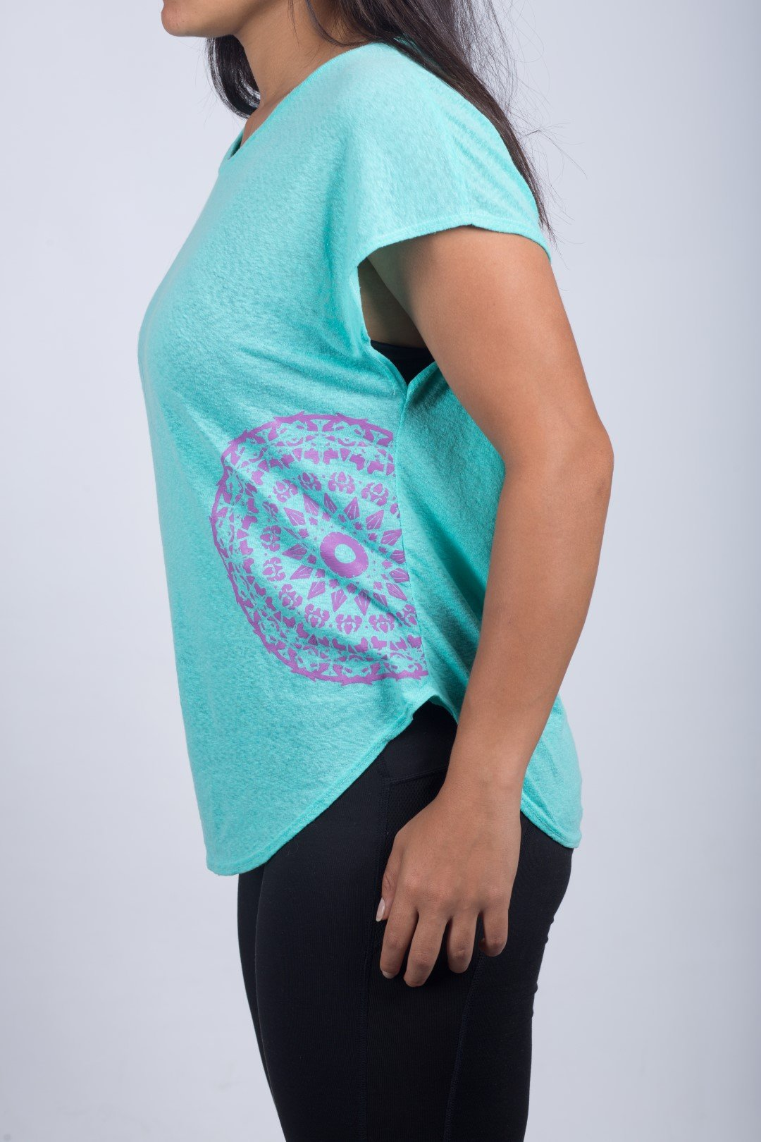 WOMEN'S ROUND NECK T-SHIRT (SKY BLUE) - Sigma Fit US