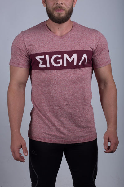 MEN'S V-NECK T-SHIRT (LIGHT CORAL) - Sigma Fit US