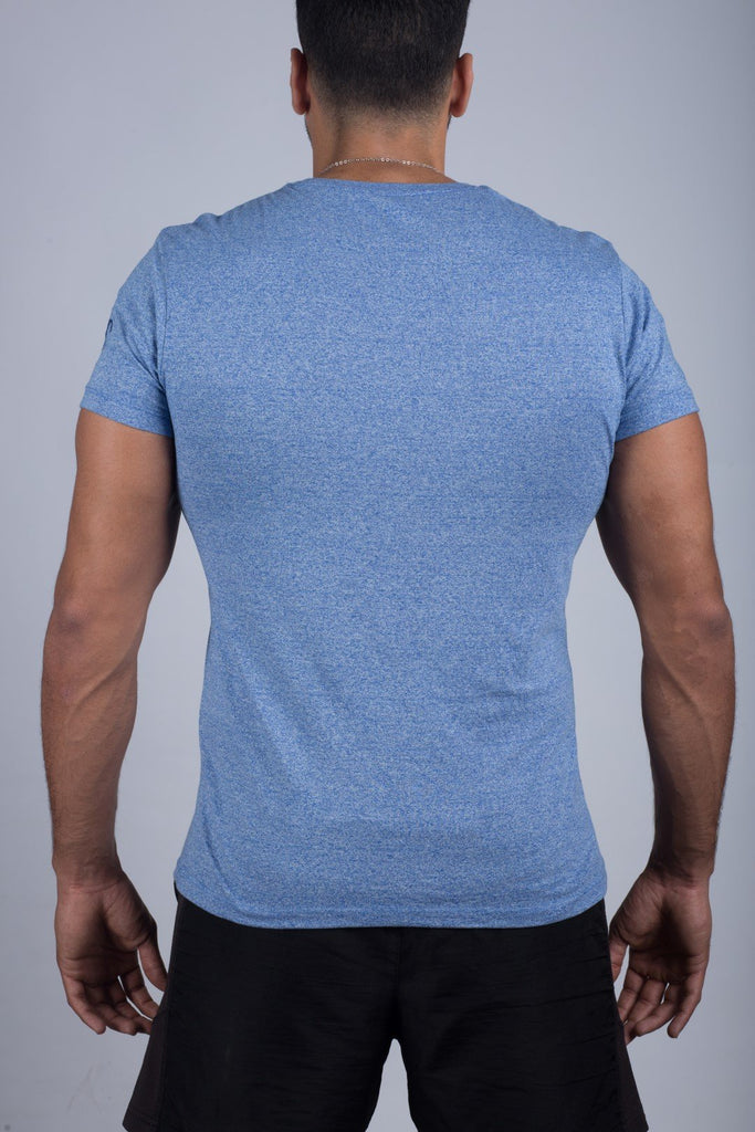 MEN'S V-NECK T-SHIRT (SKY BLUE) - Sigma Fit US