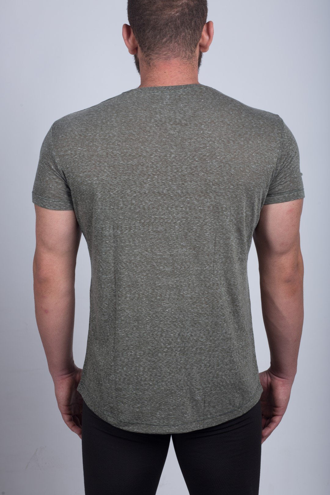 MEN'S ROUND-NECK T-SHIRT(OLIVE GREEN) - Sigma Fit US