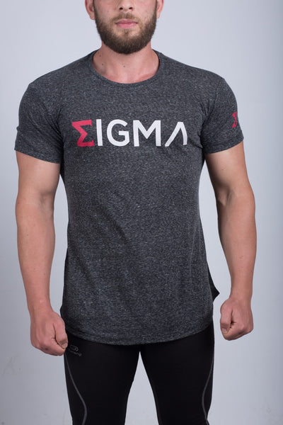 MEN'S ROUND NECK T-SHIRT (DARK GRAY) - Sigma Fit US