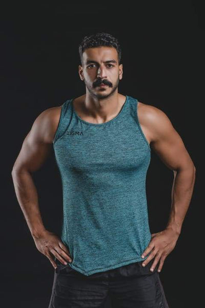 MEN'S FIERY TANK TOP (OCEAN) - Sigma Fit US