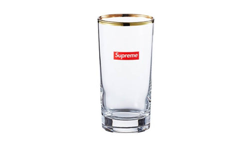 Supreme Gold Rim Bar Glasses  (Set of 2)