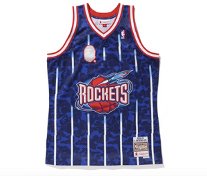"Mitchell & Ness x Bape ""Houston Rockets"" Jersey"
