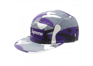 Supreme Camo Camp Cap (Purple)