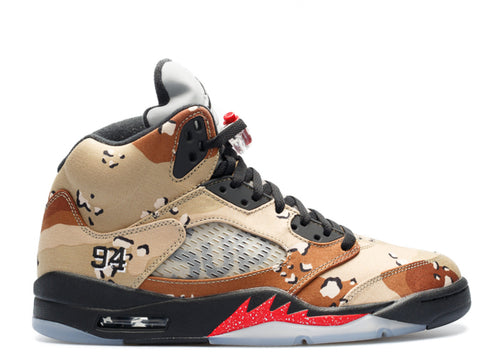 "Air Jordan 5 Retro Supreme ""Camo"""