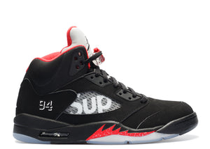 "Air Jordan Retro 5 Supreme ""Black"""