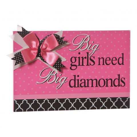 Pink Home Decor/Accessories - Girls Need Diamond Sign