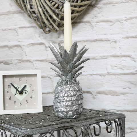 silver antique pineapple dinner candle holder stick home accessory gift wedding