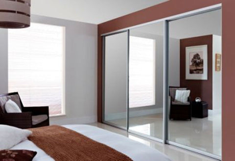 BESPOKE MADE TO MEASURE FITTED SLIDING WARDROBE DOORS IN MIRROR, GLASS OR WOOD