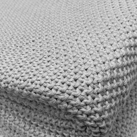 New Quality 100% Cotton Throw / Blanket in Neutral Grey Tones – 130 x 170 cm
