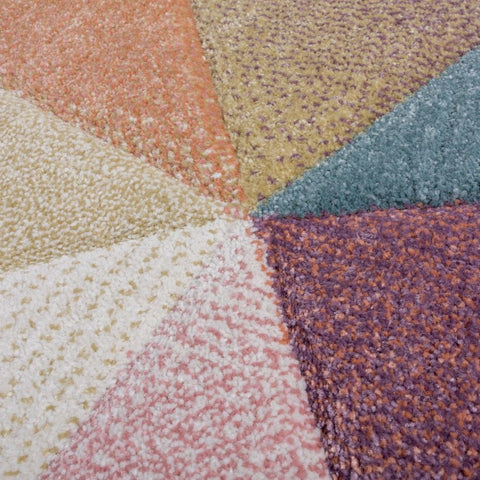 Modern Rug Pastel Multicoloured Carpet Geometric Pattern Rugs Small X Large Mats