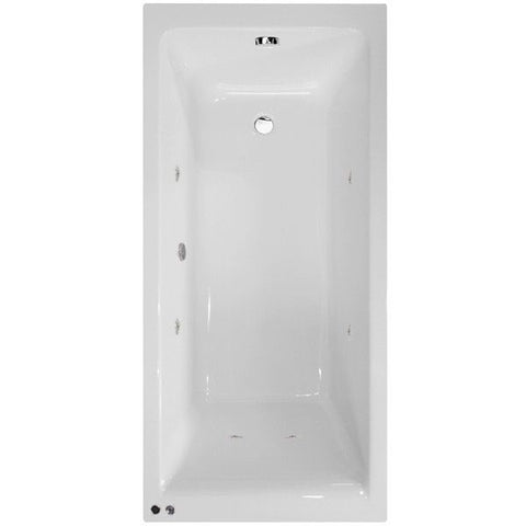 1700 x 700 Straight Single Ended Bath White Acrylic Modern Whirlpool Upgrade