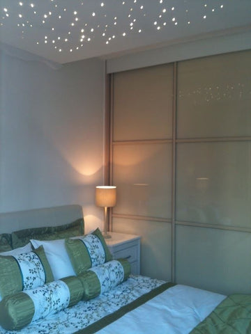 Oriental Light Gold Made to Measure Glass Sliding Wardrobe Doors upto 2100 wide