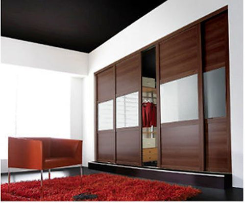 Sliding Wardrobe Glass Doors (Shaker) - Custom Made to Measure & High Quality