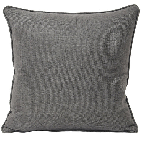 Soft & Quality Plain Cushion Cover in Square Shape – Grey – 55 x 55 cm