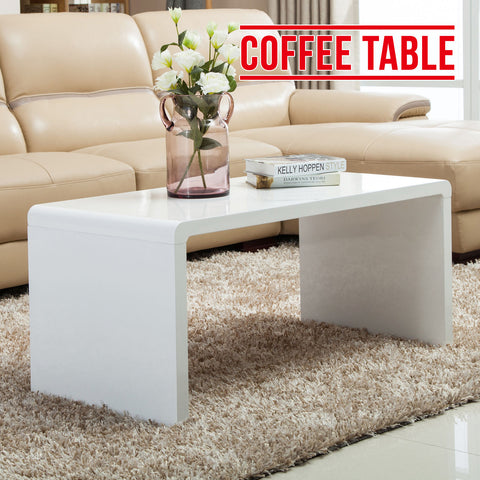 BN Modern High Gloss White Coffee Table Side/End Table Living Room Furniture