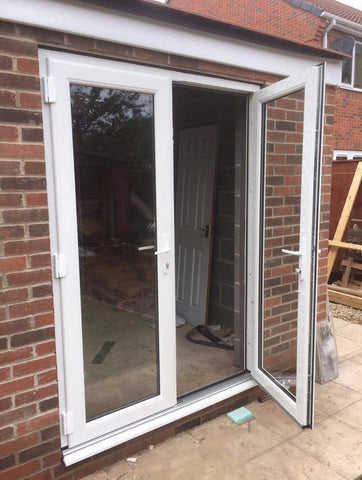 White uPVC French Doors / Back Doors / Patio Doors / Made to Measure (#111)