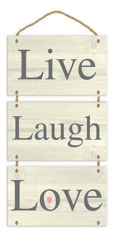 Live Laugh Love Wall Plaque Home Accessories Door Hanging Sign