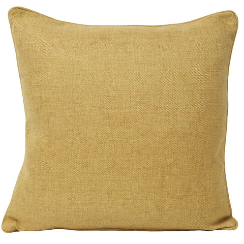 Soft & Quality Plain Cushion Cover in Square Shape – Ochre