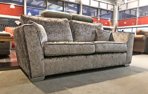 SAXENA Crushed Velvet Sofas 4 Seater Sofa + 3 + 2 + Armchair + Cuddle Chair