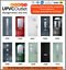 MODERN COMPOSITE FRONT DOOR SETS - LOWER PRICE BRAND NEW - 10 YEAR GUARANTEE   1 2