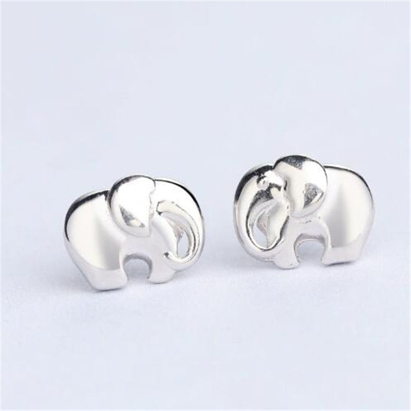 sterling earrings luck big silver stud tiny good ears elephants simple elephant hugerect product