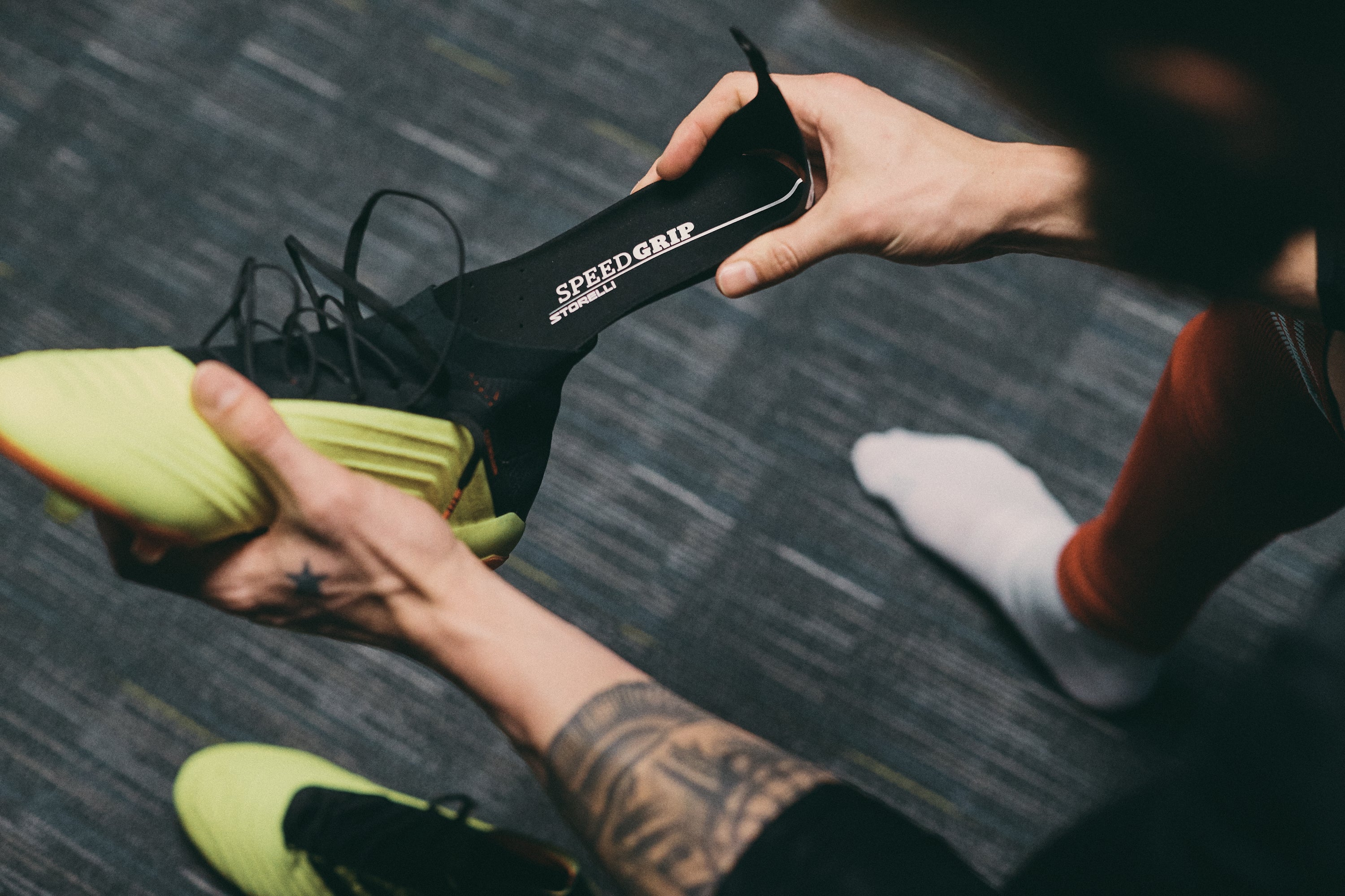 SpeedGrip® insoles combined with Adidas Predators is a winning combination.