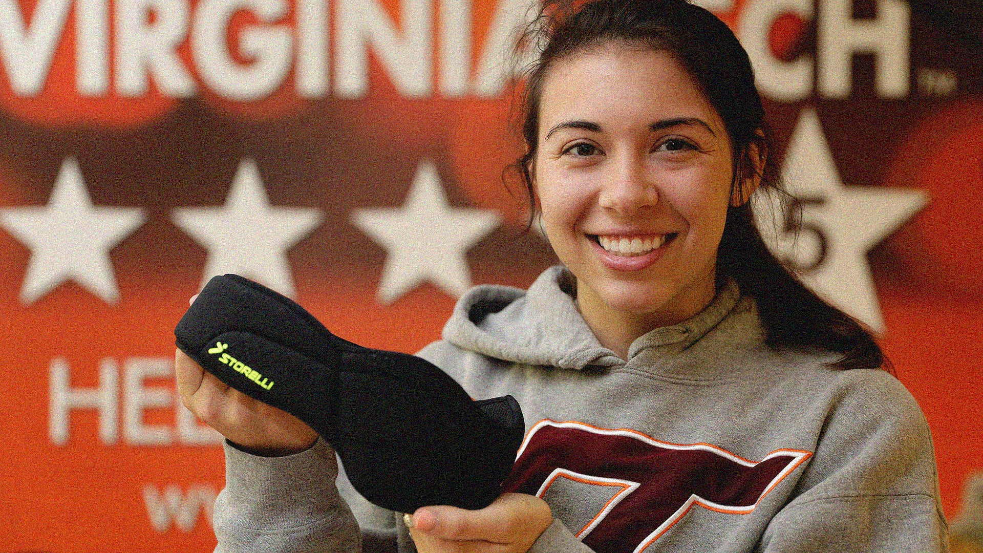 Storelli soccer headgear tested at Virginia Tech and ranked best of all, with 5 stars and 84% reduction in concussions