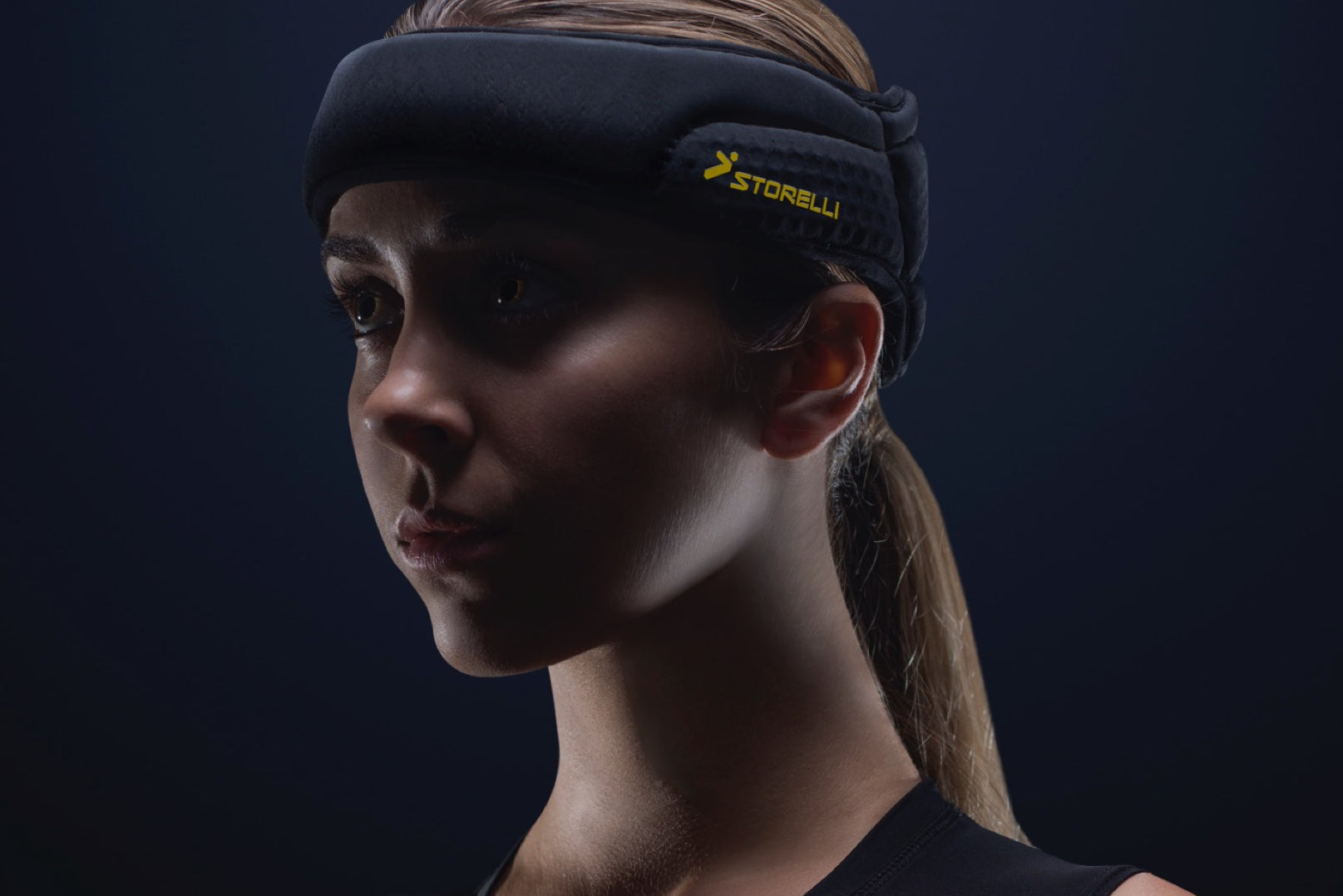 Storelli ExoShield Head Guard provides head protection for girls soccer players