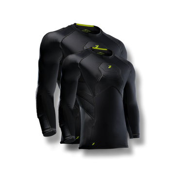 BodyShield GK 3/4 Undershirt Black - 2 Pack