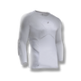 Soccer-goalkeeper compression style shirt with padded/protection on elbows, chest, shoulders and ribs. 3/4 length white color
