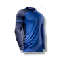 soccer youth kids goalkeeper jersey protection elbow padded blue