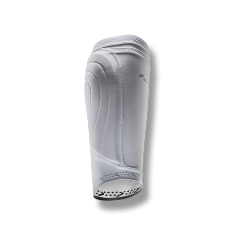 soccer compression leg protection sleeve shin guard pocket white