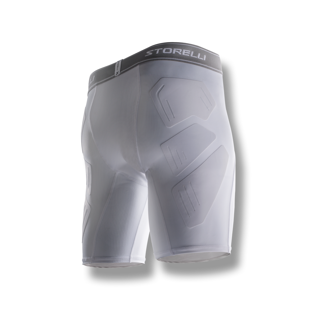 soccer youth kids turf burn compression shorts protection white
