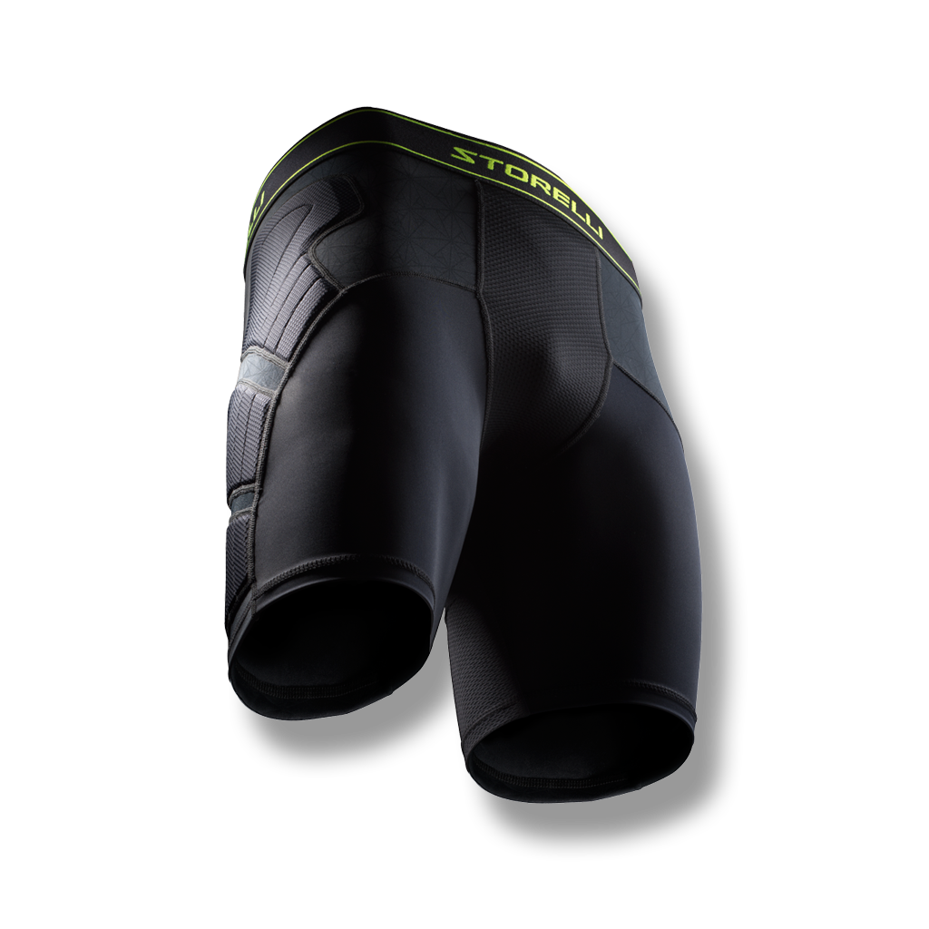 Youth and Adult soccer padded compression shorts with hip protection
