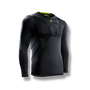 soccer youth kids long sleeve under shirt padded chest protection black