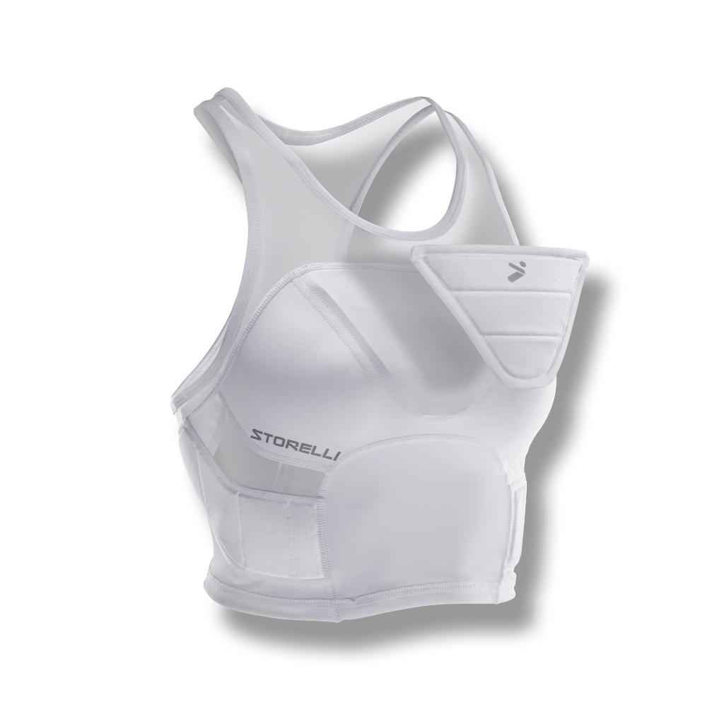 soccer crop top sports bra women chest protection white