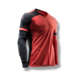 soccer youth kids goalkeeper jersey protection elbow padded coral red