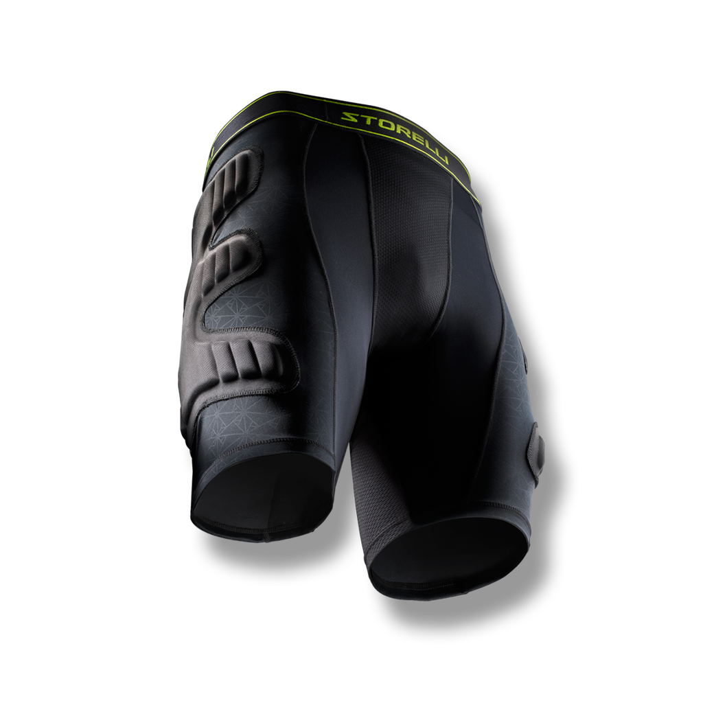 Youth and Adult soccer goalkeeper padded compression shorts with hip  protection BodyShield ... b1f42a89b0