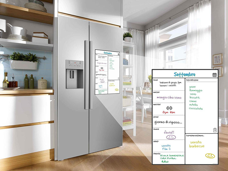 Magnetic Fridge Whiteboard, Weekly - in Italian