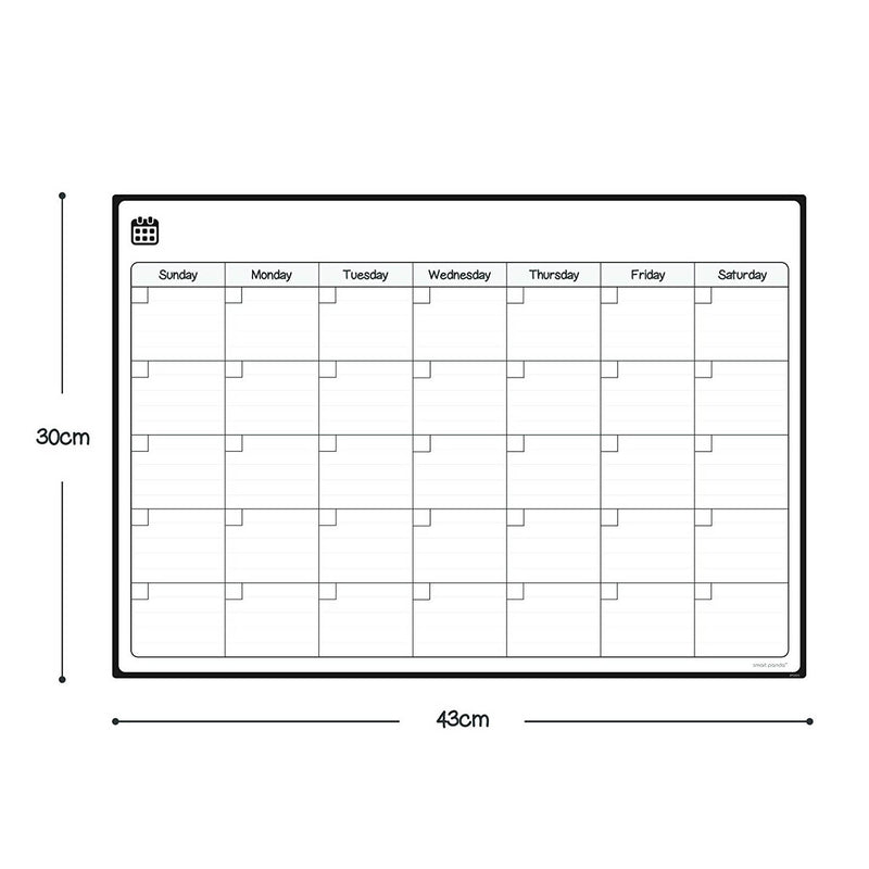 Magnetic Fridge Whiteboard, Monthly - in English