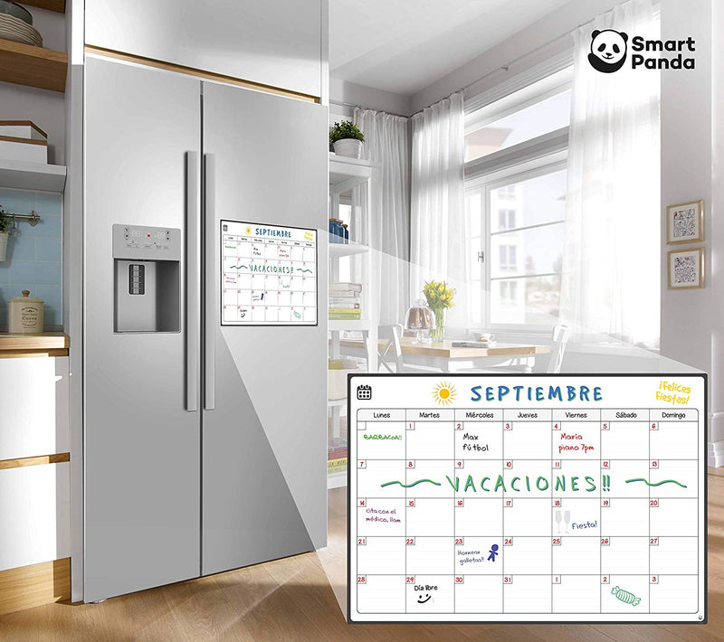 Magnetic Fridge Whiteboard, Monthly - in Spanish