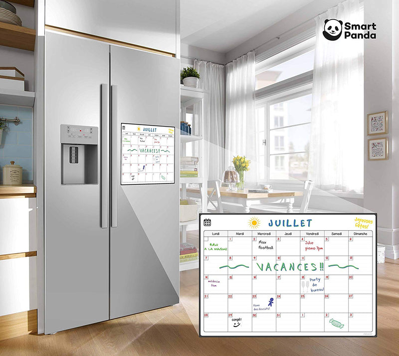 Magnetic Fridge Whiteboard, Monthly - in French