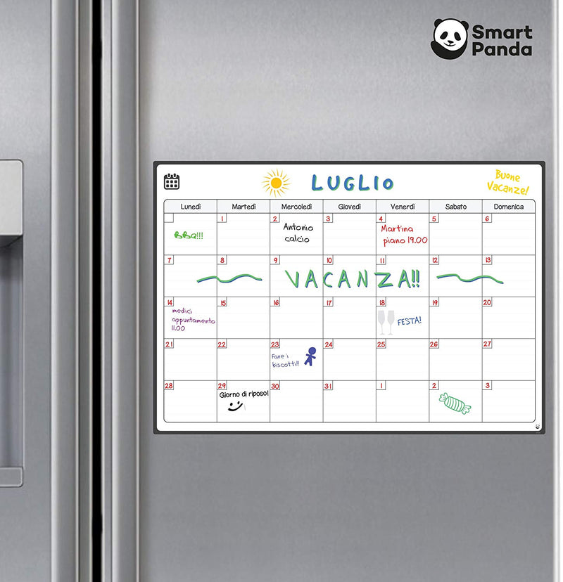 Magnetic Fridge Whiteboard, Monthly - in Italian