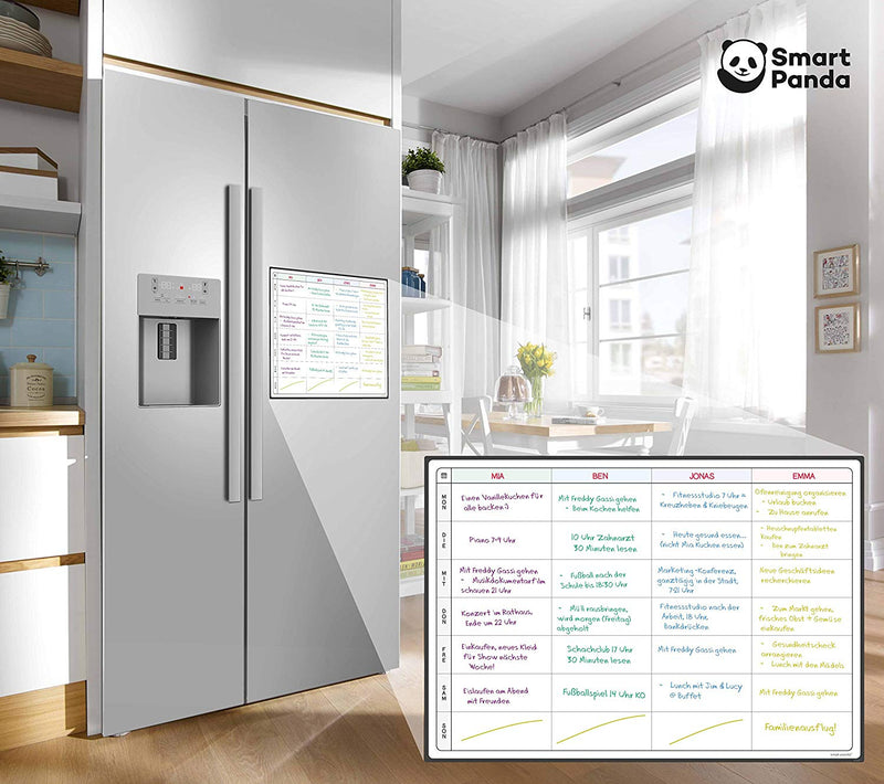 Magnetic Fridge Whiteboard, Planner - in German