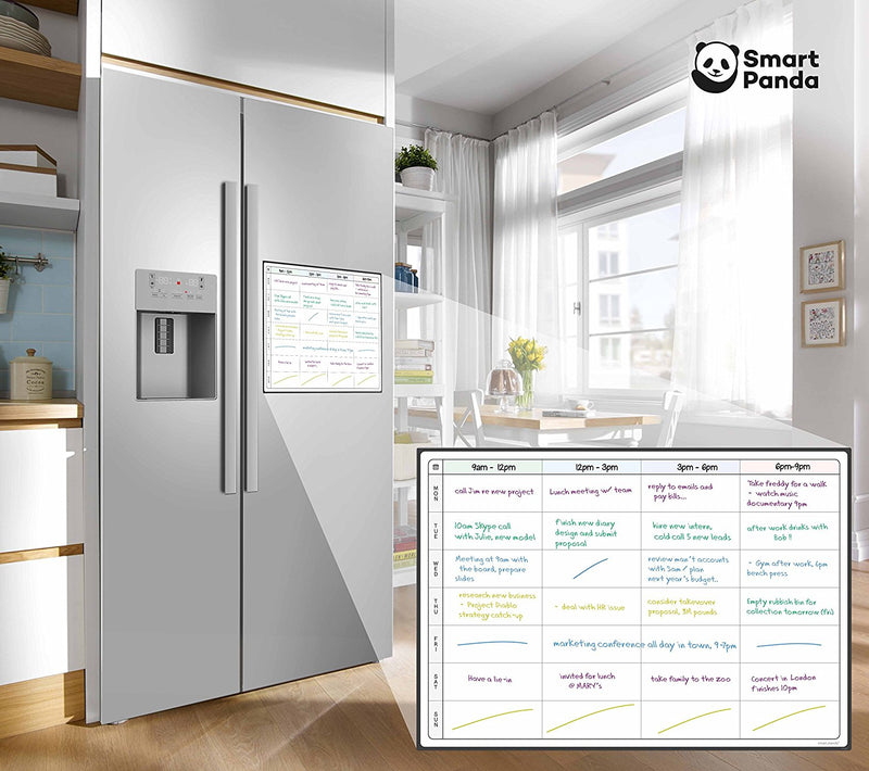 Magnetic Fridge Whiteboard, Planner - in English